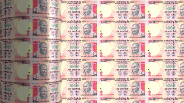 India Rupee printing - animation