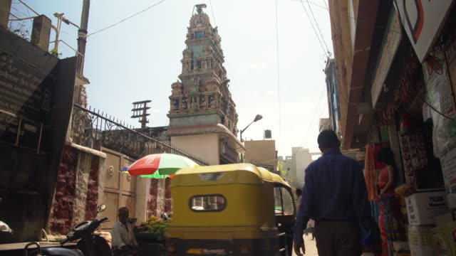 india street iconic image - bangalore stock videos and b-roll footage