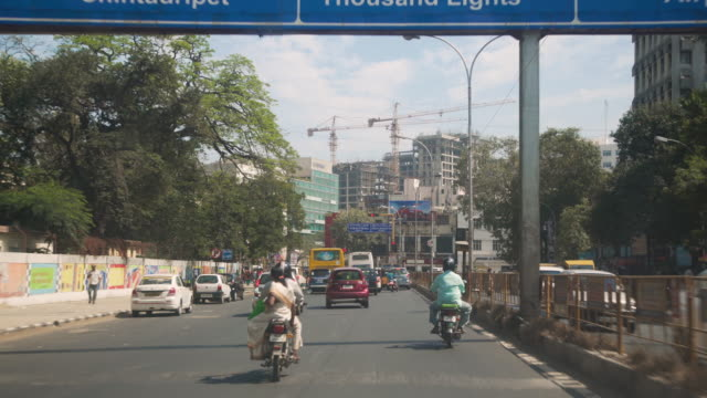 india streets car point of view - cultures stock videos & royalty-free footage