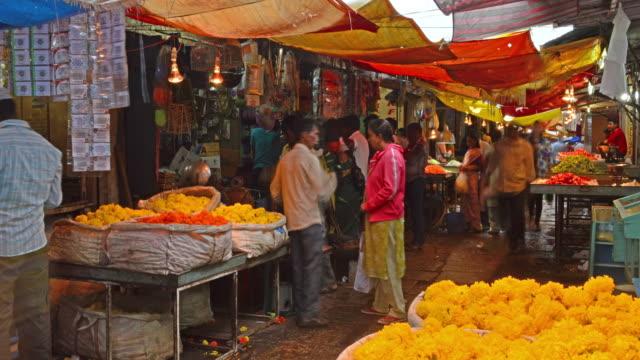 stockvideo's en b-roll-footage met india timelapse - markt
