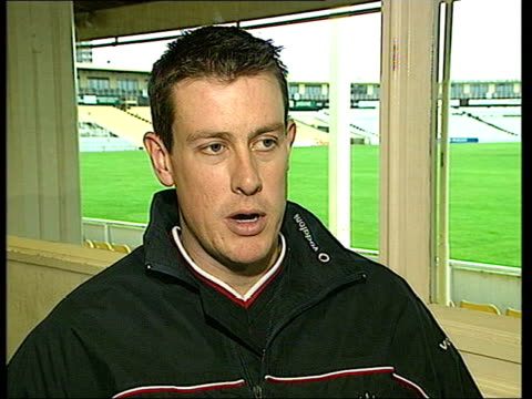 india tour uncertainty; int ashley giles interviewed sot - it's a family decision for myself and my wife - it is very tricky - itv late evening bulletin点の映像素材/bロール