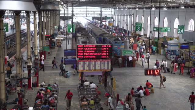 india train station high angle view at bangalore - bangalore stock videos and b-roll footage