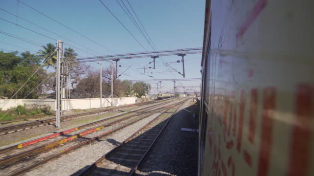 india train window point of view - tourism stock videos & royalty-free footage