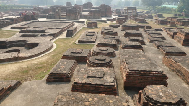 india, uttar pradesh, sarnath - view of the ancient site - ancient stock videos & royalty-free footage