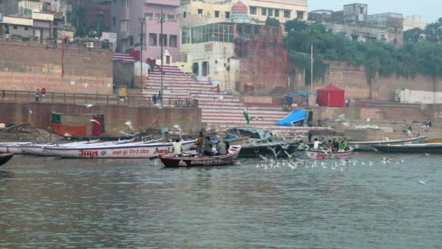 india, uttar pradesh - varanasi - sailing in the ganges river - pilgrimage stock videos & royalty-free footage