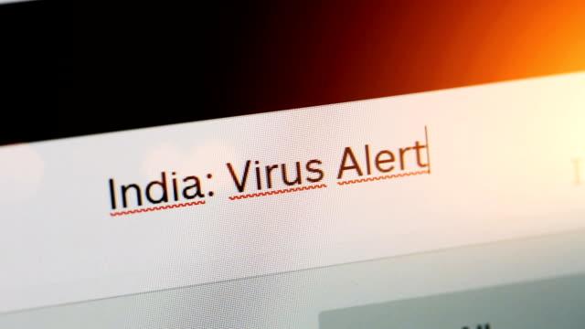 india: virus alert - india stock videos & royalty-free footage