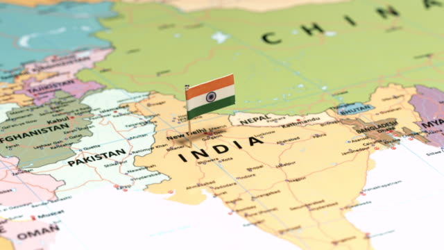 india with national flag - map stock videos & royalty-free footage