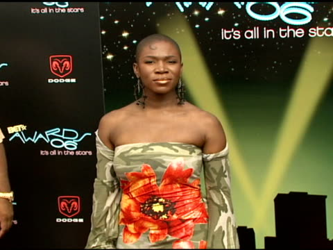 indiaarie at the 2006 bet awards arrivals at the shrine auditorium in los angeles california on june 27 2006 - black entertainment television stock videos & royalty-free footage