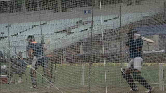 Indian and South African cricketers practiced during a training session on the eve of the third T20 cricket match between the two teams at the Eden...