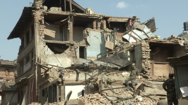stockvideo's en b-roll-footage met indian army recover property from a destroyed home a major earthquake hit kathmandu midday on saturday april 25th and was followed by multiple... - indiase leger