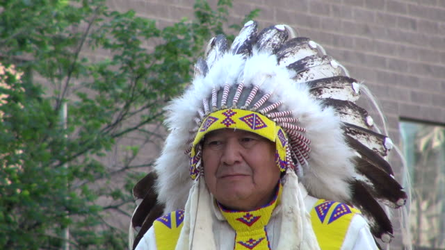 ms indian at calgary stampede / calgary, alberta, canada - headdress stock videos and b-roll footage