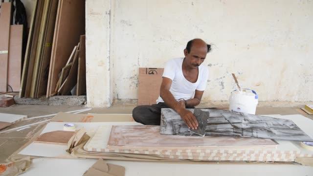 indian carpenter making furniture. - carpenter stock videos & royalty-free footage