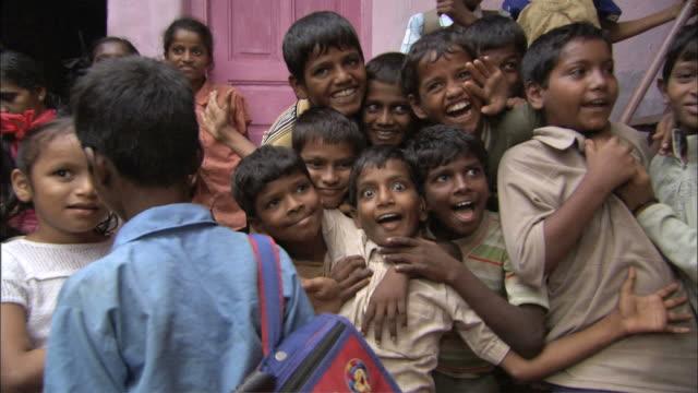 MS Indian Childerns laughing / Mumbai, Maharashtra, India