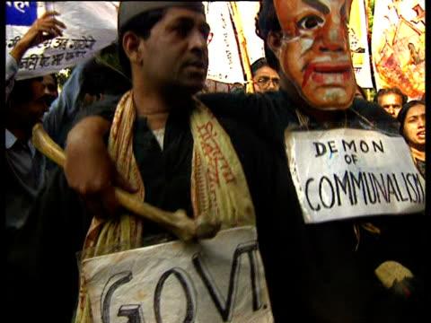 vídeos y material grabado en eventos de stock de indian christians protest against persecution. - satírico