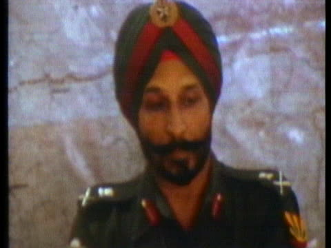 indian commander lieutenant general a.s. aurora gives a press conference in calcutta about how the war started. - (war or terrorism or election or government or illness or news event or speech or politics or politician or conflict or military or extreme weather or business or economy) and not usa stock videos & royalty-free footage