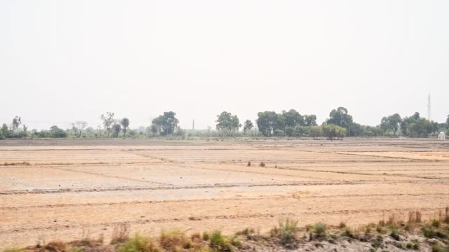 indian countryside from varanasi to agra - arid stock videos & royalty-free footage