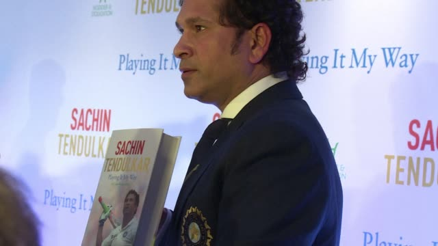 indian cricket legend sachin tendulkar launched his autobiography playing it my way in london on friday two days after a similar event in mumbai - autobiography stock videos & royalty-free footage