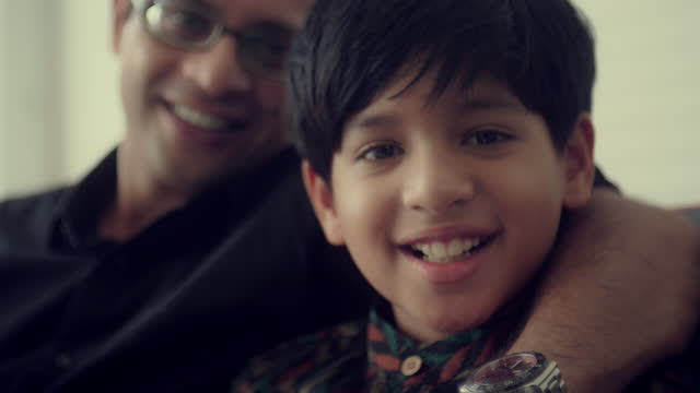 indian father and son - father stock videos & royalty-free footage