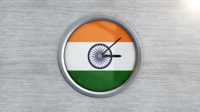 indian flag clock timelapse - minute hand stock videos & royalty-free footage