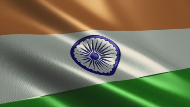 indian flag  high detail - looping stock video - india flag stock videos & royalty-free footage