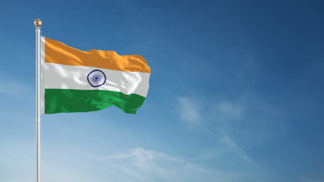 4K Indian Flag - Loopable