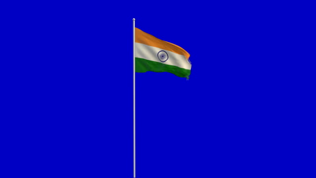 indische Flagge Rising