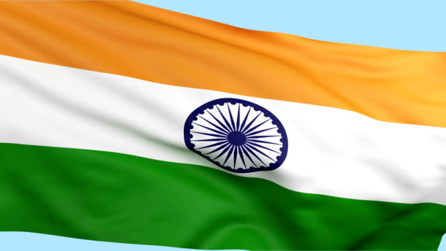 indian flag waving loopable - indian flag stock videos & royalty-free footage