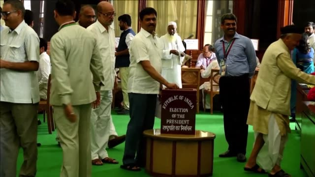 indian lawmakers voted monday for a new president certain to come from the bottom of the hindu caste system in an election seen as strengthening... - dalit stock videos and b-roll footage