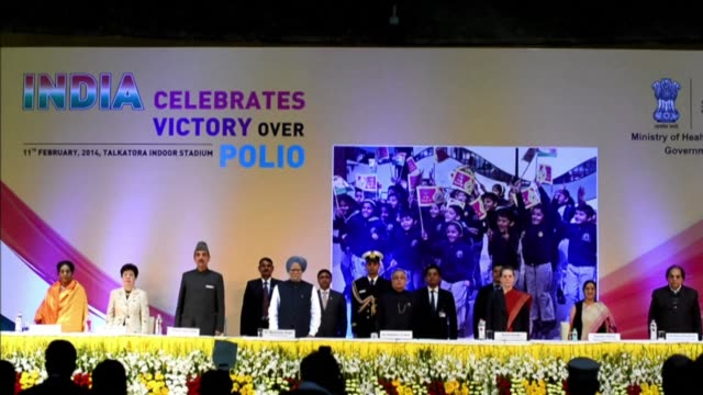 indian leaders celebrated the eradication of polio on tuesday reminding doubters that something once thought impossible had been achieved and... - polio stock videos and b-roll footage