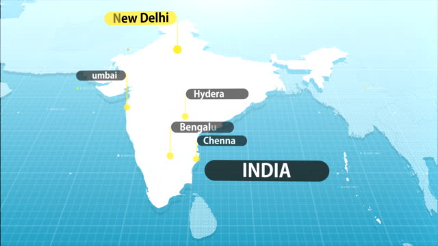 indian map - india stock videos & royalty-free footage
