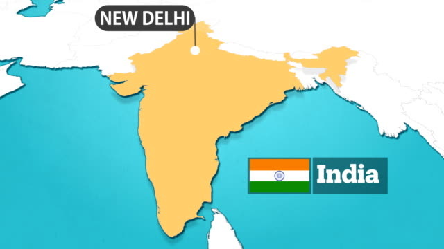 indian map with flag - outline stock videos & royalty-free footage