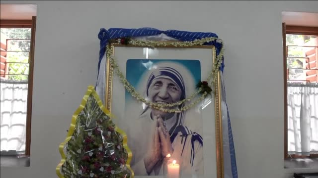 Indian nuns from the Catholic Order of the Missionaries of Charity celebrate Mother Teresa 106th birthday in Kolkata