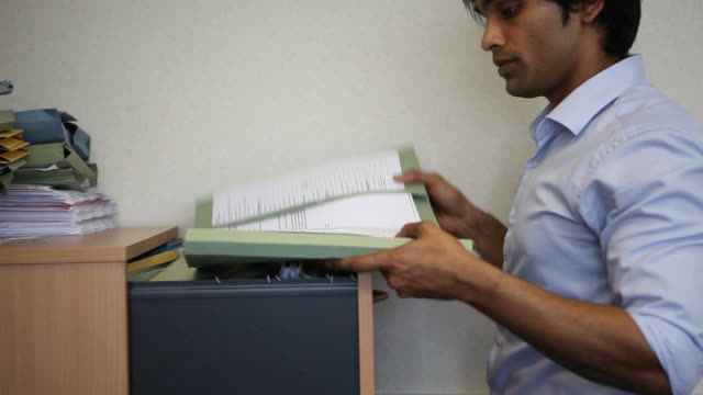 Indian office worker on phone