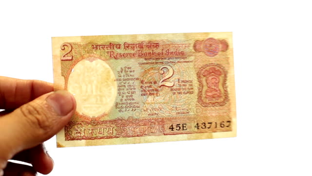 indian old two rupee note - 1943 stock videos & royalty-free footage