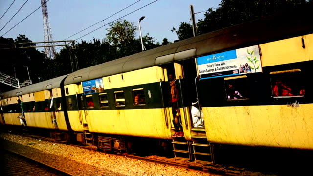 indian passenger train - railroad track stock videos & royalty-free footage