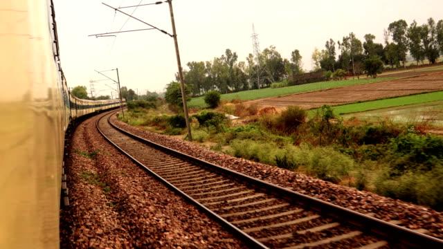 indian passenger train - rail transportation stock videos & royalty-free footage