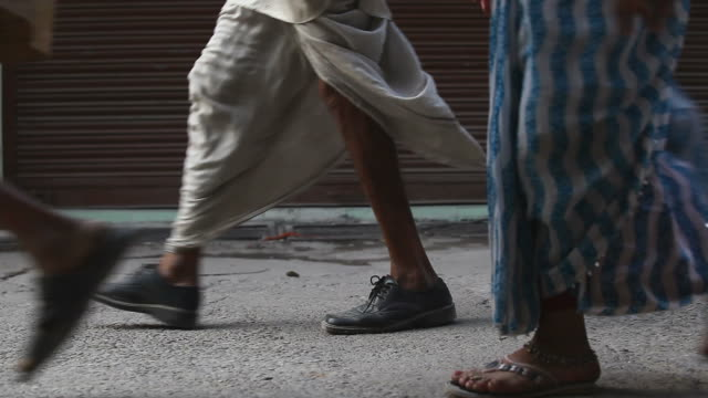 Indian people walking on the street