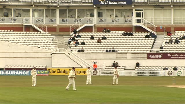 london brit oval day players on pitch and handful of spectators watching - handful stock videos & royalty-free footage