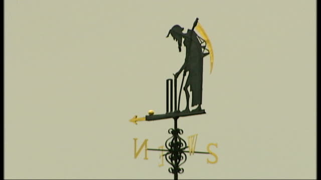 london lords cricket ground day old father time weather vane turning towards east - lords cricket ground stock videos and b-roll footage