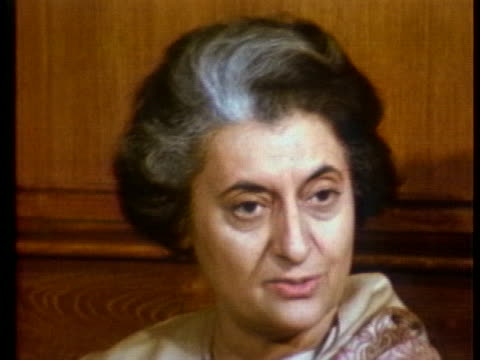 indian prime minister indira gandhi discusses india's non-alignment policy with the united states. - united states and (politics or government) stock videos & royalty-free footage