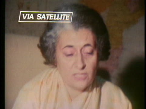indian prime minister indira gandhi talks about the victory for bangladesh in the indian-pakistani war. - (war or terrorism or election or government or illness or news event or speech or politics or politician or conflict or military or extreme weather or business or economy) and not usa stock videos & royalty-free footage