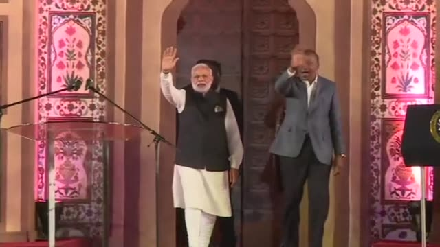 Indian Prime Minister Narendra Modi arrived on Sunday in Kenya where he is expected to make a speech to the Indian community in a Nairobi Stadium