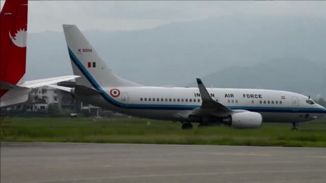 stockvideo's en b-roll-footage met indian prime minister narendra modi arrives in nepal to try to speed up progress on power agreements while also aiming to counter rival giant china's... - overtuiging