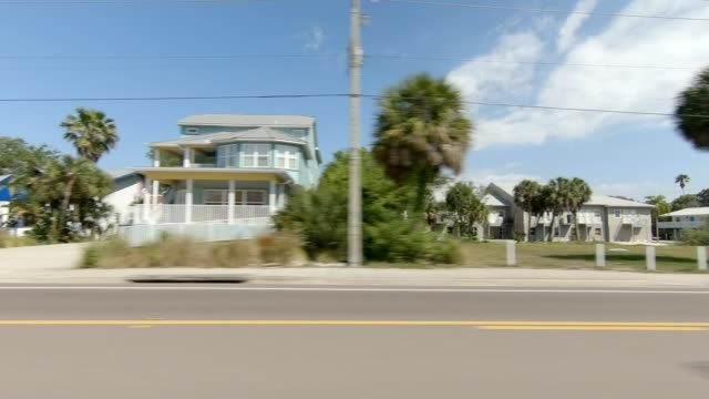 indian rocks beach xvi synced series left view driving process plate - passenger point of view stock videos & royalty-free footage