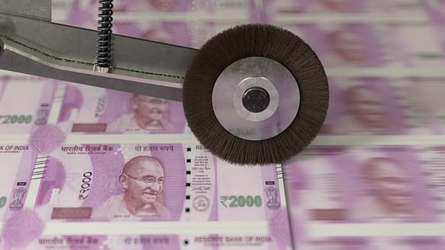 indian rupee banknotes being printed - bank stock videos & royalty-free footage