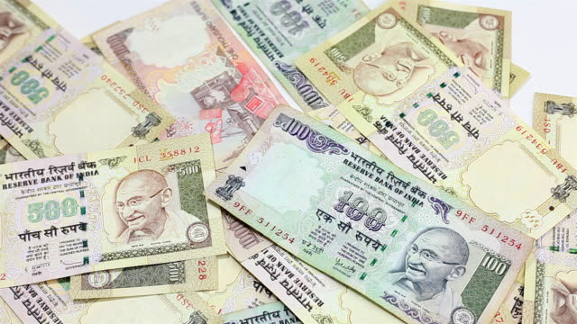 indian rupee currency bills banknote falling - home finances stock videos & royalty-free footage