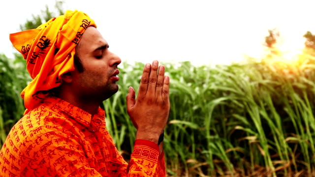 indian sadhu(monk) praying to god - priest stock videos & royalty-free footage