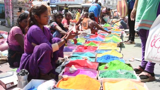 indian street vendor, maharashtra, india. - デリー点の映像素材/bロール