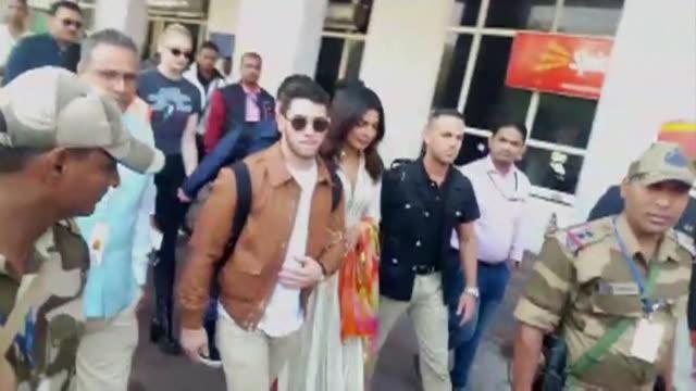 Indian superstar Priyanka Chopra and American singer Nick Jonas arrive in Jodhpur ahead of their wedding