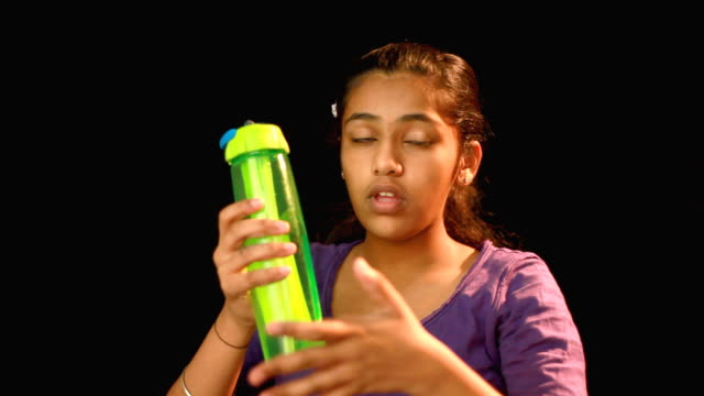 indian teenager girl talking about water conservation - water conservation stock videos & royalty-free footage